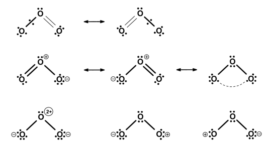 ozone resonance structure